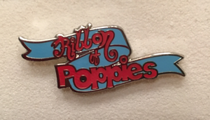 Ribbon of Poppies Pin Badge