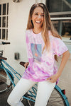 unplug tie dye tee - purple