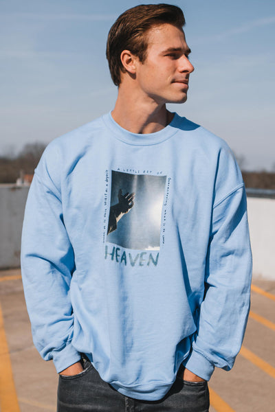 heaven sweatshirt - blue