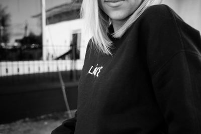 'LIVE' handstitched sweatshirt - black