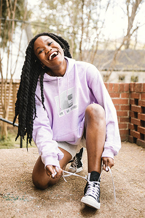 here now unplugged hoodie - purple