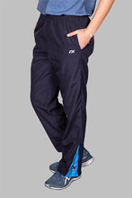 Load image into Gallery viewer, Navy Track Pants with side inserts