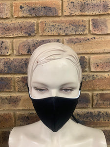 Black Unbranded - 3 Ply Face Mask