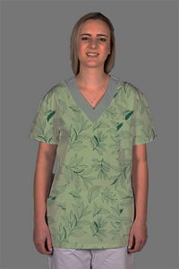 Green Scrub Top Ladies