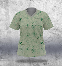 Load image into Gallery viewer, Green Scrub Top Ladies