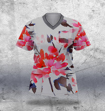 Load image into Gallery viewer, Abstract Flower Scrub Top Ladies