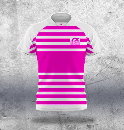 Kids Pink Rugby Training Jersey