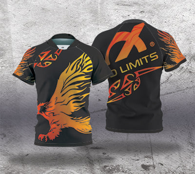 Rugby Jersey (Kids sizes) - Flames