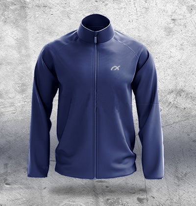 Navy Tracktop with Side Pockets