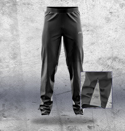 Kids Black Track Pants with side inserts