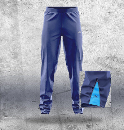 Navy Track Pants with side inserts