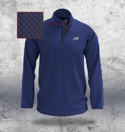 Mens Navy Padded Jacket