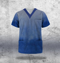 Load image into Gallery viewer, Navy Scrub Top Mens