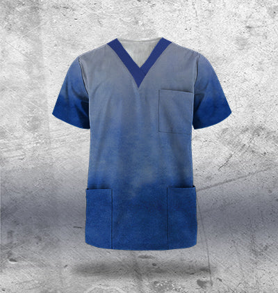 Navy Scrub Top Mens