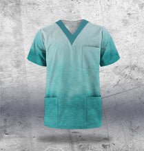 Load image into Gallery viewer, Turquoise Scrub Top Mens