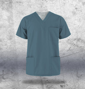 Teal Scrub Top Mens