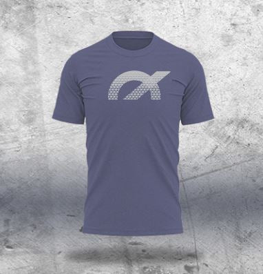 Blue Melange T-Shirt - Design 4