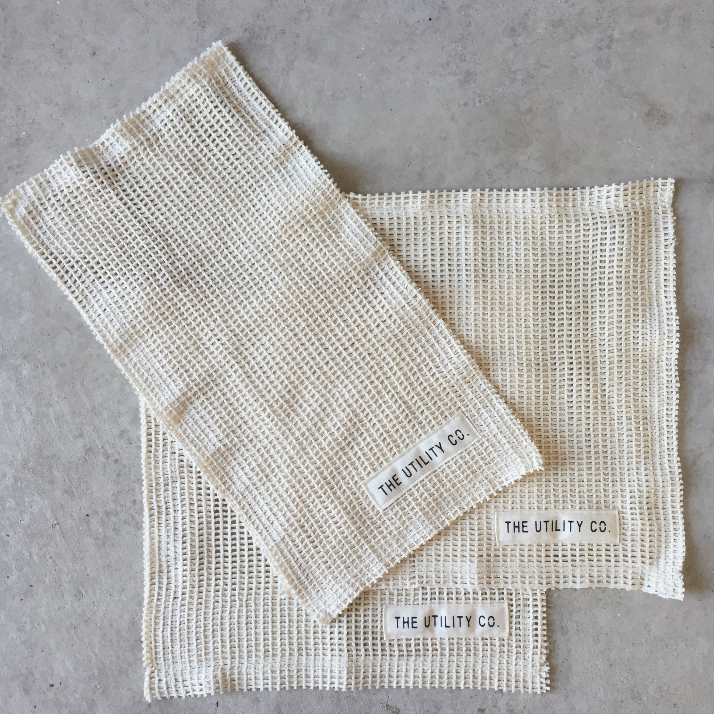 Reusable cotton washcloth (set of three)
