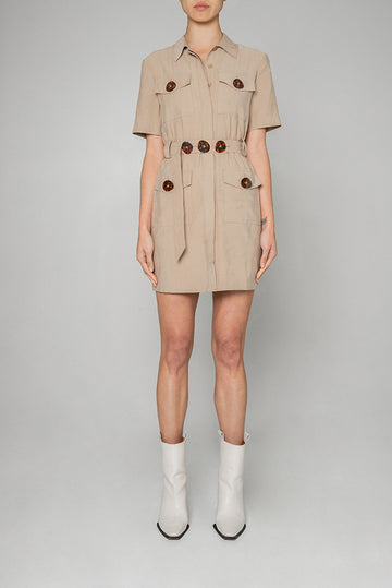 QUAY DRESS IN BEIGE
