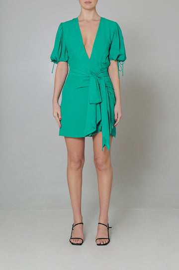 Jolie Dress in Emerald Green