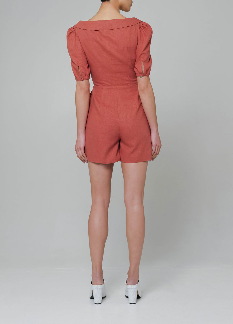 Positano Romper in Clay