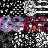 Cotton Double Gauze Round CC Retail - Halloween NEW prints - Witchy, Scream, Skulls, Ghosts and more