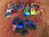 Holographic Vinyl Stickers - Swag - 3x3 ready to ship w/ orders