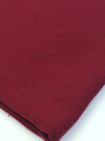 Maroon Wine Rib Knit - 1/4, 1/2 or 1 yard cuts - Retail from PP6