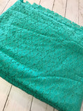 Retail Fabric - Jade Teal NON - STRETCH Lace Floral