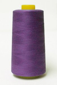 4000 Yards 100% Polyester Purple Serger Cone Thread - Retail