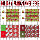 Retail - Holiday Print & panel Sets - 4 to choose from - Cotton Lycra