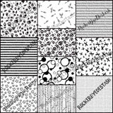 Cotton Lycra ACCENT prints - retail - 1 yard per quantity Coordinate designs Black and white