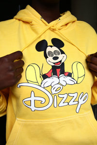 Dizzy - Yellow Cotton Hoodie - Printed graphics - The Drop