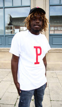Load image into Gallery viewer, P - White Cotton Tee - 3D graphics - The Drop