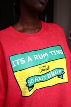 Load image into Gallery viewer, Rum Ting - Red Cotton Sweater - The Drop