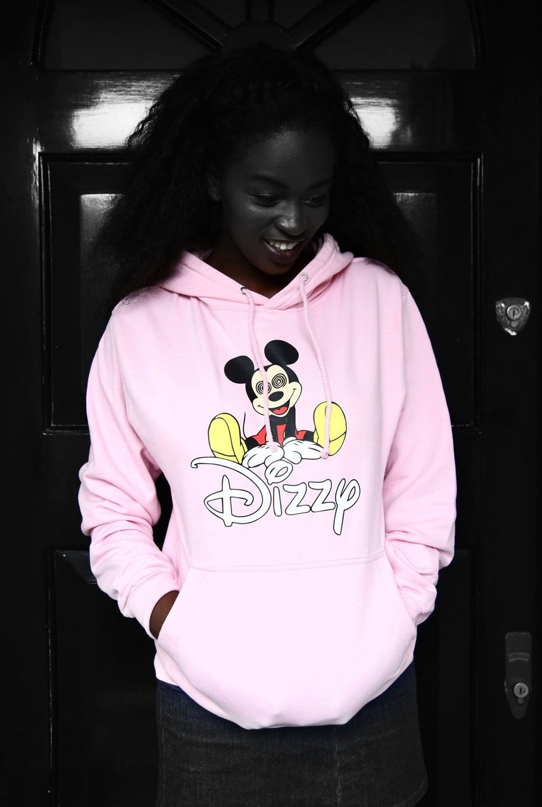 Dizzy - Pink Cotton Hoodie - Printed graphics - The Drop