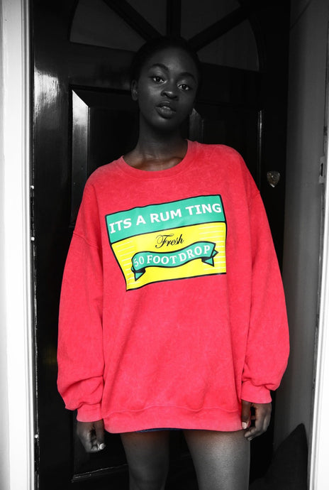 Rum Ting - Red Cotton Sweater - The Drop