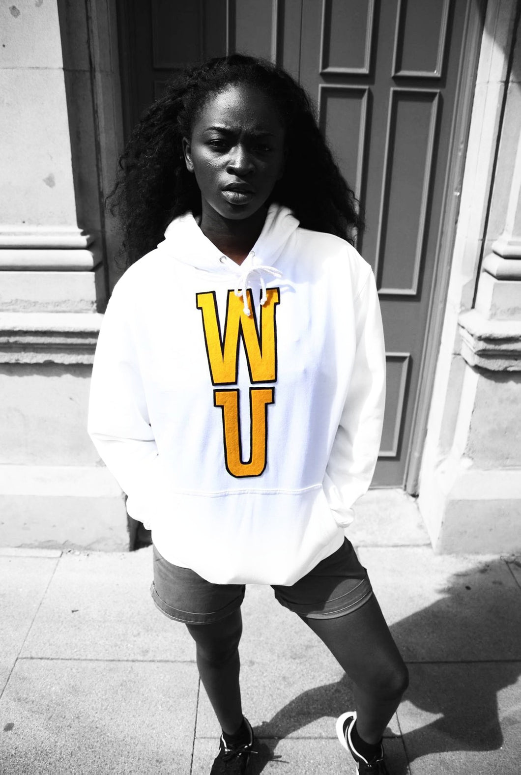 WU - White Cotton Hoodie - 3D graphics - The Drop