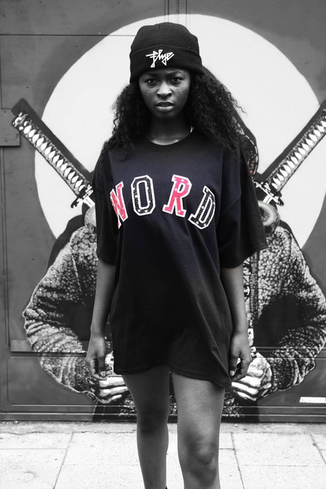 Word - Black Cotton Tee - The Drop