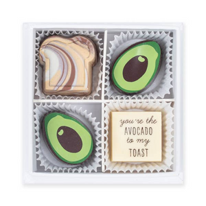 You're the Avocado to my Toast! Hand-painted Chocolate Box.