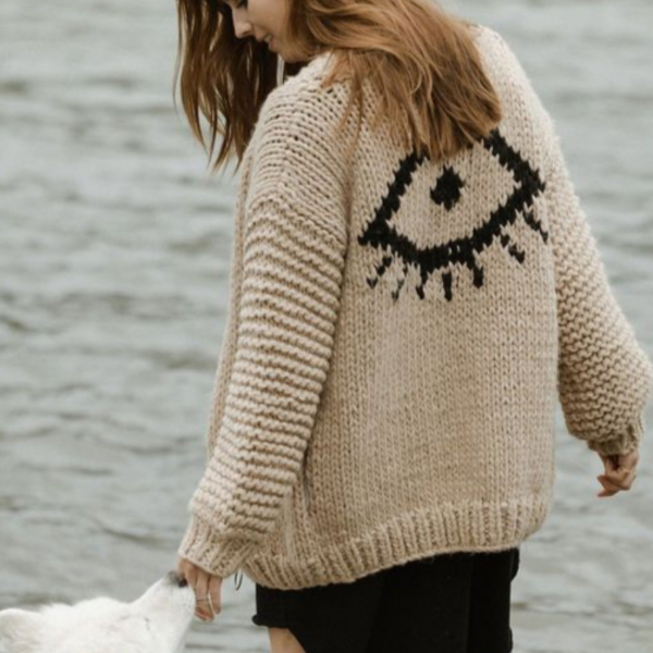 Eye See You Sweater Cardigan