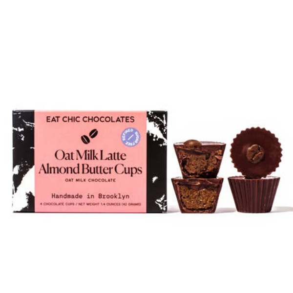 Oat Milk Chocolate Latte Almond Butter Cups