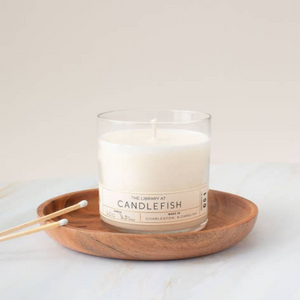 Candle Cloche and Wooden Plate