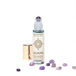 CALMING - Essential Oil Roll On Aromatherapy Infused w/ Crystals