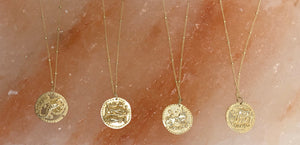 Astrology Sign Gold Coin Necklace