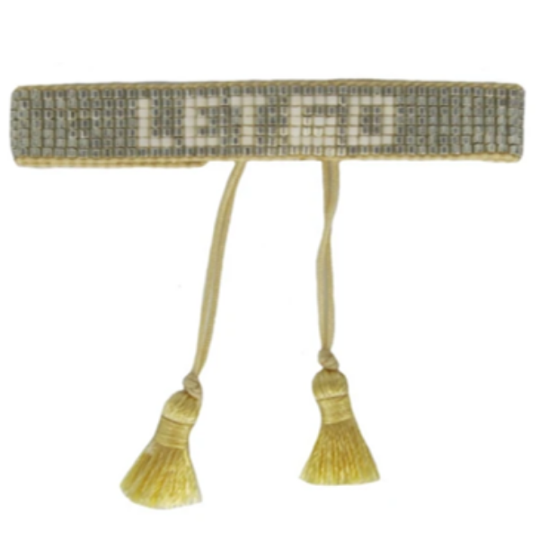 "Gold ""Let Go"" Beaded Bracelet"