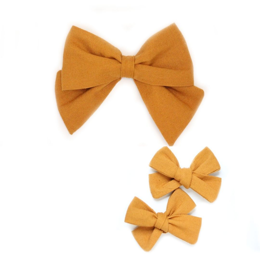 Goldenrod Hair Bow