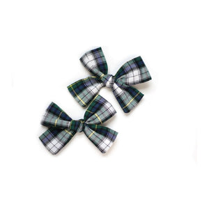 Open image in slideshow, Green and Blue Tartan Hair Bow