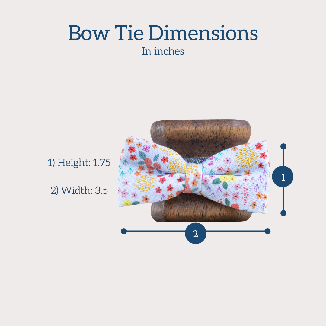 Size dimensions for kids bow tie