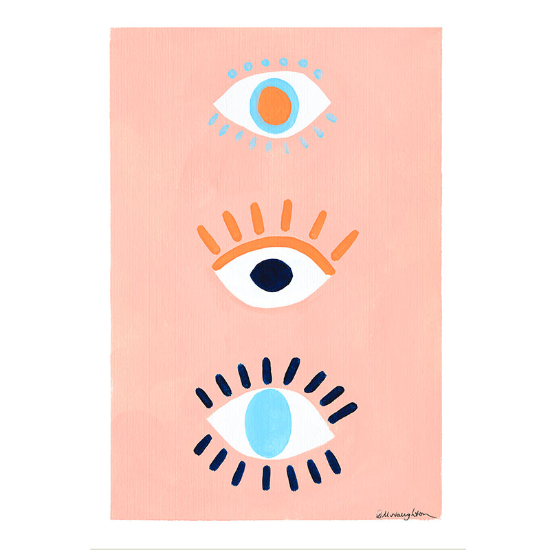 Deb McNaughton Artist - Original Print - Eyes Wide Open - Aspendale